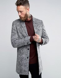 Religion Overcoat In Leopard Gry Blk Grey