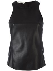 Cedric Charlier Panelled Tank Top Black