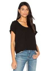 Three Dots Boxy Tee Black