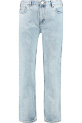 Acne Studios Low Rise Boyfriend Jeans Blue