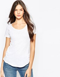 Sundry Short Sleeve Raglan Crew Neck T Shirt White