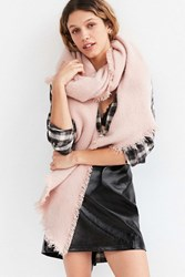 Urban Outfitters Nubby Oblong Blanket Scarf Pink