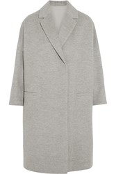 Brunello Cucinelli Wool And Cashmere Blend Coat Light Gray