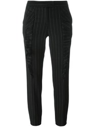 Christian Pellizzari Pinstripe Trousers Black