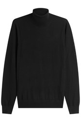 Michael Kors Collection Extra Fine Merino Wool Turtleneck Pullover Black