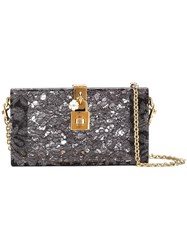 Dolce And Gabbana Box Clutch Grey