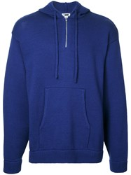H Beauty And Youth Zip Up Hoodie Blue