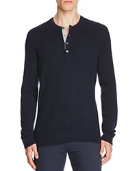 Vince Cashmere Henley Sweater Coastal