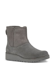 Ugg Kristin Sheepskin Wedge Ankle Boots Grey