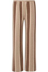 The Row Culotta Cashmere And Silk Blend Wide Leg Pants Brown