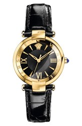 Versace Women's Revive Leather Strap Watch 35Mm