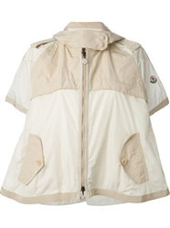 Moncler Flared Cropped Mac Nude And Neutrals