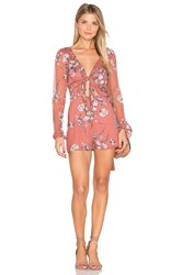 The Jetset Diaries Oasis Floral Romper Coral