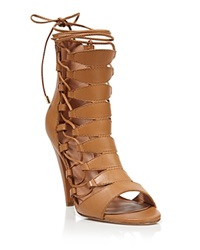 Sigerson Morrison Open Toe Lace Up Sandals Magola High Heel Couio Bulgaro