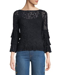 Bailey 44 Sorority Lace Bell Sleeve Top Navy