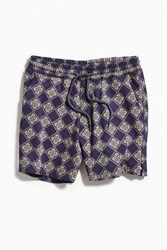Urban Outfitters Uo Patterned Lucien Short Purple Multi