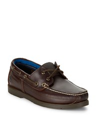Timberland Piper Cove Moc Toe Leather Boat Shoes Brown