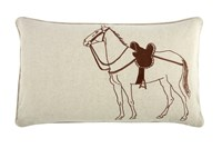 Thomas Paul Thoroughbred Flax Pillow 12 X 20 Multicolor