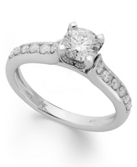 Macy's Diamond Engagement Ring In 14K White Gold Or 14K Gold 1 Ct. T.W.