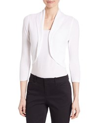 Lord And Taylor Petite Cropped Shrug White