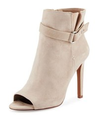Bcbgeneration Cassia Peep Toe Suede Bootie Gray