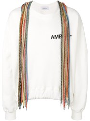 Ambush Lace Detail Sweatshirt White