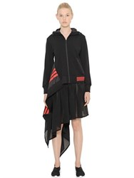 Y 3 Asymmetrical Hooded Zip Up Jacket