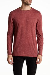 Threads For Thought Raw Edge Long Sleeve Tee Red