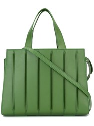 Max Mara Pleated Tote Bag Green