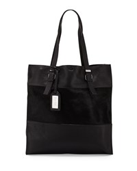 Liv Calf Hair Leather Tote Bag Black Badgley Mischka