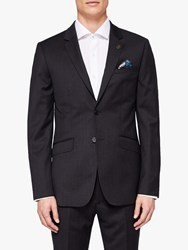 Ted Baker Timzon Wool Tailored Suit Jacket Black