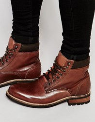 Bellfield Worker Boots In Brown Leather Brown