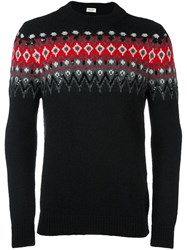 Saint Laurent Embellished Jacquard Jumper Black