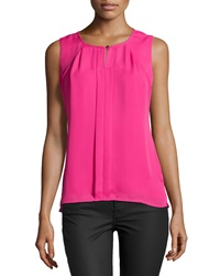 Laundry By Shelli Segal Pleated Sleeveless Blouse Hotty