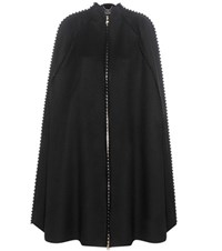 Salvatore Ferragamo Virgin Wool And Cashmere Poncho Black