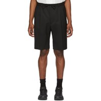 Cmmn Swdn Black Jayson Double Pleat Shorts