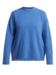 Masscob Real Wool And Cashmere Blend Sweater Blue
