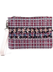 Mother Of Pearl Medium 'Pranzo' Clutch Pink And Purple