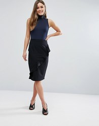 New Look Ruffle Front Skirt Black