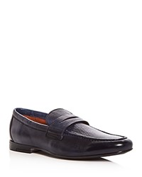 Gordon Rush Men's Connery Leather Penny Loafers Navy