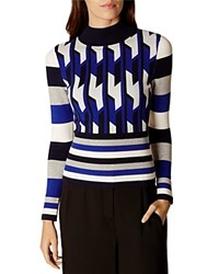 Karen Millen Geometric Sweater Multi