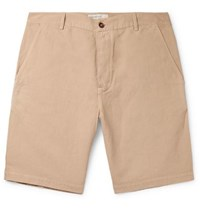 Universal Works Linen And Cotton Blend Canvas Shorts Sand