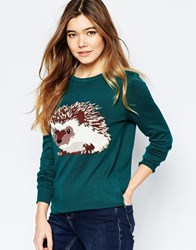 Sugarhill Boutique Hedgehog Jumper Green