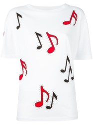 Stella Mccartney Musical Note T Shirt White