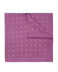 Turnbull And Asser Basic Dot Pocket Square Lilac