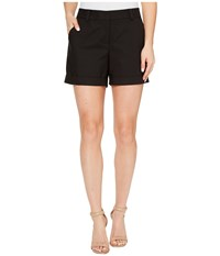 Vince Camuto Doubleweave Cuffed Short Rich Black Women's Shorts