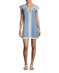 Soft Joie Natali Embroidered Mini Dress Blue