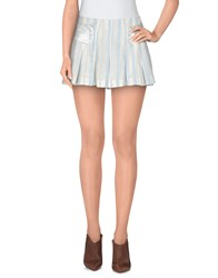Custo Barcelona Skirts Mini Skirts Women Sky Blue