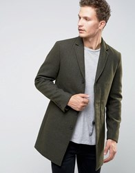 Selected Homme Overcoat Khaki Green