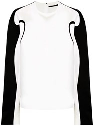 Haider Ackermann Boxy Fit Contrast Piping Top 60
